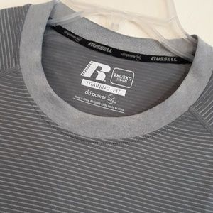 Russell Athletic Men's Grey Training Fit Tee